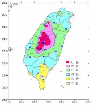 1999年台湾集集地震的震中