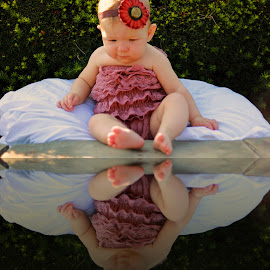 Reflections by On the Lake Photography - Babies & Children Babies ( baby portrait, child, reflection, happy, children, happiness, baby, baby photography )