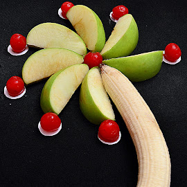 Apple, cherry, banana palm tree. by Andrew Piekut - Food & Drink Fruits & Vegetables
