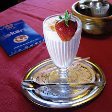 Strawberries Romanoff in a Glass