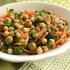 Chickpea and Carrot Salad with Parsley and Olives