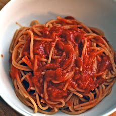 Dinner Tonight: Spaghetti with Ginger Tomato Sauce