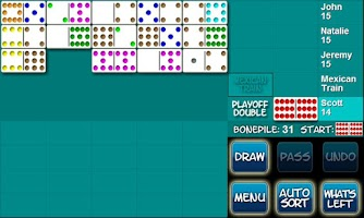 Screenshot of Mexican Train Dominoes