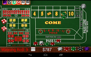 Screenshot of Craps Trainer Pro