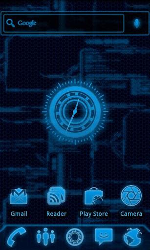 Blueprint Tech Clock Widget