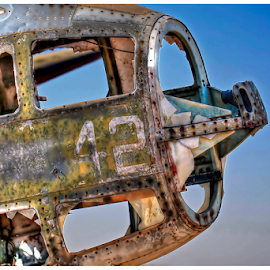 No 42 by Mari du Preez - Transportation Airplanes ( old, hdr, wreck, airplane, decay,  )
