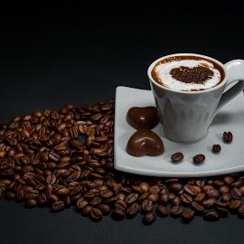 Coffee by Luca Arșinel - Food & Drink Alcohol & Drinks ( coffee beans, coffee, coffee cup,  )