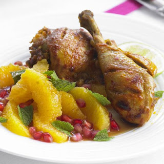 Spice-rubbed Chicken With Pomegranate Salad