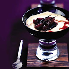 Honey rice pudding with pear and Rioja jam recipe