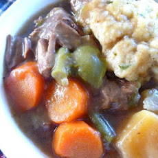 Wintry Beef Vegetable Stew With Fluffy Herb Dumplings