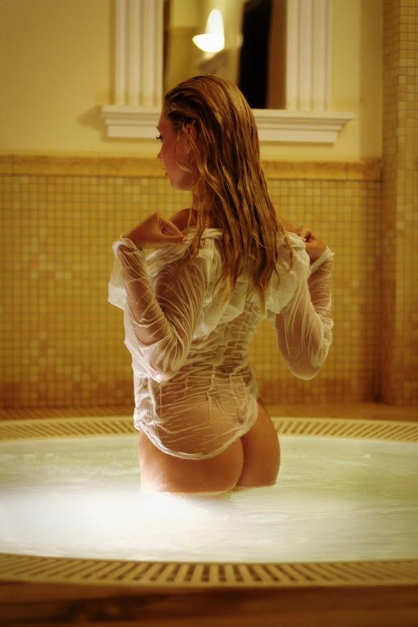 From the water by Nicu Buculei - Nudes & Boudoir Artistic Nude ( nude, bath, ass, wet, shirt,  )