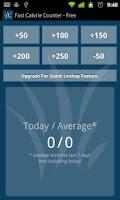 Screenshot of Fast Calorie Counter