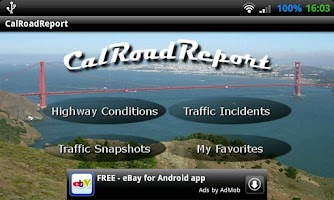 Screenshot of CalRoadReport