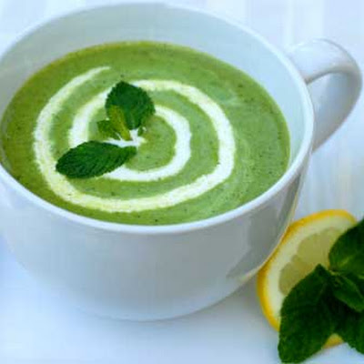 Gluten Free Minted Pea Soup