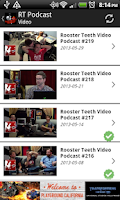 Screenshot of Rooster Teeth Podcast