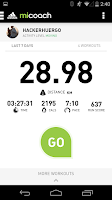 Screenshot of miCoach train & run