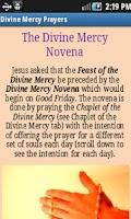 Screenshot of Divine Mercy Prayers