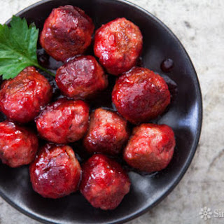 Cranberry Glazed Turkey Meatballs
