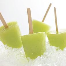 Honeydew-Lime Ice Pops