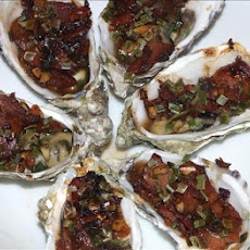 Oysters With Pine Nuts and Bacon