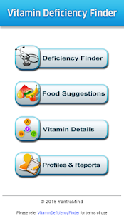 Vitamin Deficiency Finder screenshot for Android