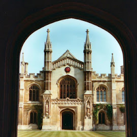 Corpus Christi College, Cambridge by Lori Rider - Buildings & Architecture Other Exteriors ( england, gothic, frame, arch, college, cambridge )