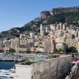 Monaco skyline by Victor Eliu - City,  Street & Park  Skylines ( skyline, europe, monaco, cityscape )