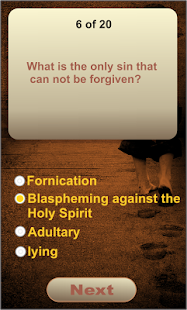 Bible Quiz Game - screenshot