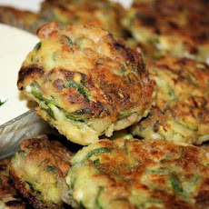 Mediterranean Zucchini Fritters With Sensational Yogurt Sauce