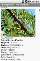 Screenshot of Encyclopedia of Trees and Shru
