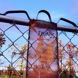 Garden Friends by Bridget Wegrzyn - Artistic Objects Signs
