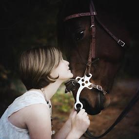 I Will Always Love You by Annamarie Dearr - People Portraits of Women ( love, girls, animals, horses, emotional, friendship, children, women, #GARYFONGDRAMATICLIGHT, #WTFBOBDAVIS,  )