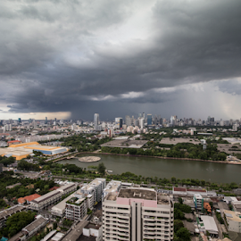 ANOTHER RAINY DAY by Frank Photography - Landscapes Weather ( water, bangkok, skyline, thailand, cloud, view, rain )