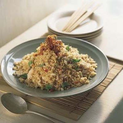 Chili Fried Rice with Crab and Thai Basil