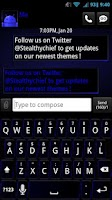 Screenshot of GO SMS Dark Blue Theme
