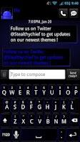 Screenshot of GO SMS Dark Blue Theme