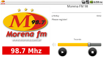 Screenshot of Morena FM 98
