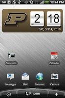 Screenshot of Purdue Boilermakers Clock