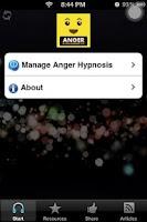 Screenshot of Anger Management Hypnosis App
