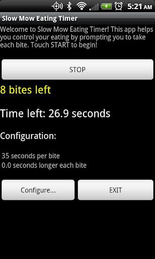 SlowMow Eating Timer - screenshot