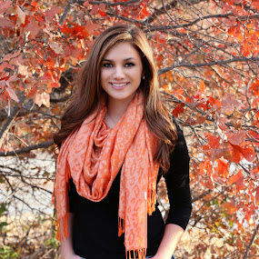 by Kathy Suttles - People Portraits of Women ( orange, suttleimpressions, oklahoma, fall, cowgirl, beauty, scarf, portrait, country,  )