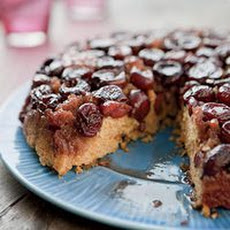 Grilled Cherry Upside-Down Corn Cake