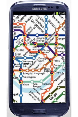 韓國首爾地鐵地圖和凸輪
