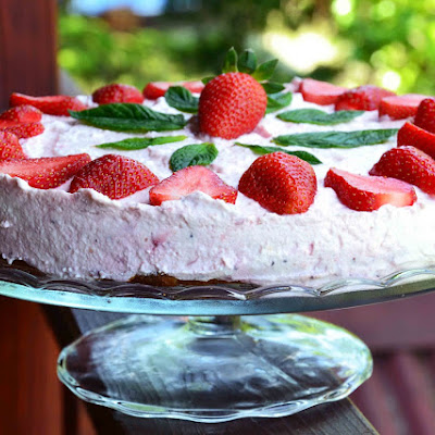 Strawberry Ricotta Cake