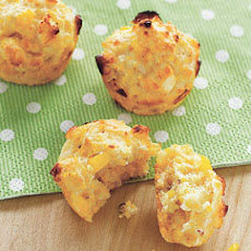 Mini Corn and Feta Muffins