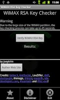 Screenshot of WiMAX Key Checker