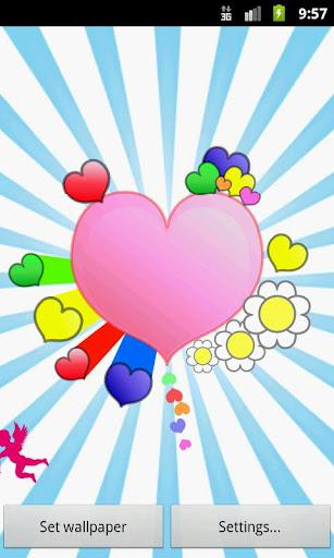 玩個人化App|Valentine's Day Live Wallpaper免費|APP試玩