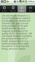 Screenshot of Life+Health Network TV Beta