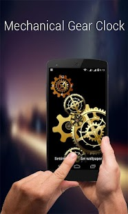 Mechanical Gear Clock LiveWP - screenshot