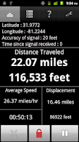 Screenshot of GPS Odometer